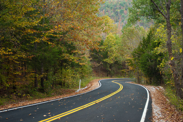 Ozark mountainside road, Arkansas