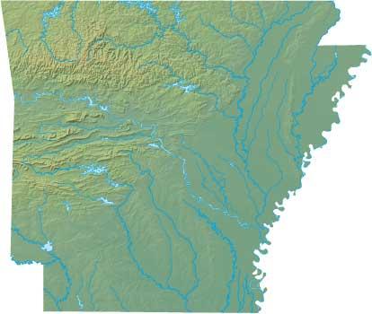 Arkansas relief map